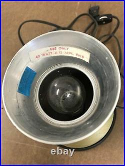 Vintage LAVA LAMP blue gold metal starlite base atomic mid century modern light