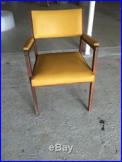 Vintage Mid Century Alma Desk Co Walnut Chair Office Atomic Modern 60s