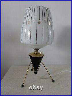 Vintage Mid Century Atomic Table Lamp Sputnik 1950`s Rockabilly Space Age