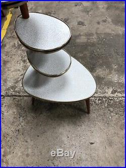 Vintage Mid Century German Atomic Plant Stand / Retro Space Age