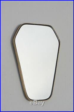 Vintage Mid Century Modern Asymmetric Rockabilly Atomic Fifties Mirror Eames Era