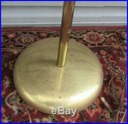 Vintage Mid Century Modern Atomic Cone 3 Light Pole Floor Lamp Retro 1960's