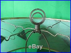 Vintage Mid Century Modern Atomic Table Lamp Fiberglass Shade Art Deco