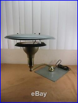 Vintage Mid Century Modern Atomic UFO Flying Saucer Table Lamp 1960's
