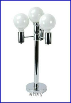 Vintage Mid-Century Modern Chrome Atomic Four Light Table Lamp