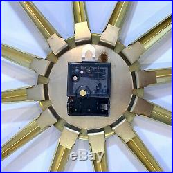 Vintage Mid Century Modern Roxhall Atomic Starburst Wall Clock