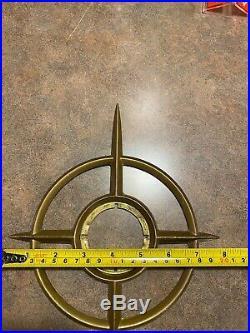 Vintage Mid Century Modern Schlage Starburst Atomic Door Lock Trim Piece