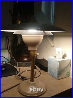 Vintage Mid Century Modern Ufo Mod Lamp 1950s Atomic desk lamp 1ft Tall/1 ft W
