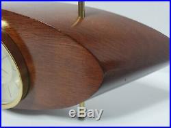 Vintage Mid-Century Modern Wood Westclox Electric Mantle Clock S10-AB 707 Atomic