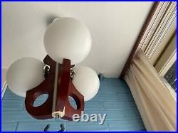Vintage Mid Century Pendant Space Age Lamp Ceiling Atomic Design Light Sputnik