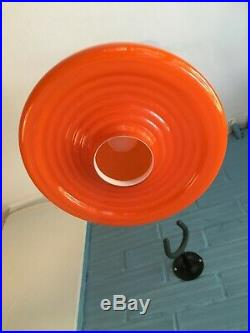 Vintage Mid Century Pendant Space Age UFO Lamp Ceiling Atomic Design Light Glass