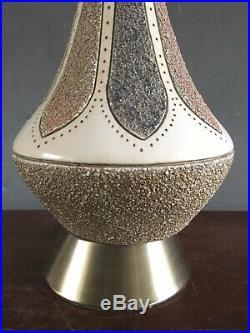 Vintage Mid Century Quartite Creative Genie Bottle Table Lamp Atomic Large