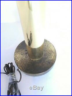 Vintage Mid Century Retro Atomic 4 Arm Waterfall Table Lamp With Wicker Shades