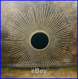 Vintage Mid Century Starburst Wall MIRROR MCM Atomic Sunburst Metal Art
