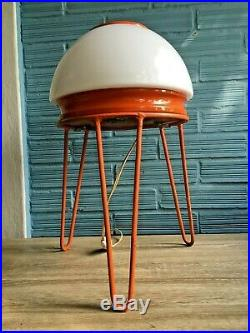 Vintage Mid Century UFO Space Age Lamp Table Floor Atomic Design Light Pop Art