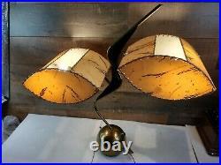Vintage Mid century Majestic Atomic Space Age Retro Art Deco Z Boomerang Lamp