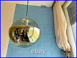 Vintage Peill Putzler Mid Century Pendant Space Age Lamp Atomic Design Light