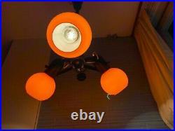 Vintage Pendant Space Age Lamp Atomic Design Light Mid Century Hanging Eyeball