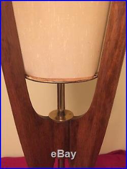 Vintage Retro Danish Mid-century Adrian Pearsall Atomic Rocket Era Table Lamp