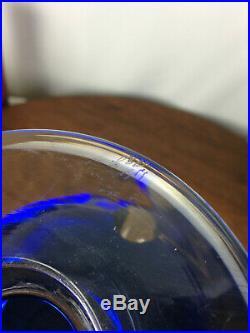 Vintage Signed VSL Mid Century Modern Atomic Cobalt Blue Ashtray #WH-1