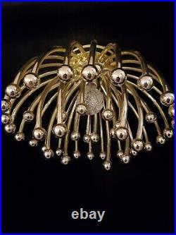 Vintage Sputnik Ceiling Light Fixture Gold Atomic Style Mid Century Modern MCM