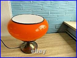 Vintage Table Space Age Glass Lamp Atomic Design Light Mid Century Desk Mushroom