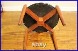 Vintage Teak Mid Century Atomic Footstool / Dressing Stool Retro Danish 60s 70s