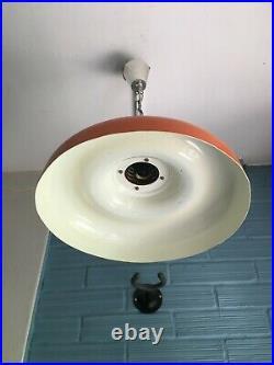 Vintage UFO Mid Century Pendant Space Age Lamp Ceiling Atomic Design Light Metal
