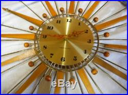 Vintage Westclox Starburst Wall Clock MID Century Atomic Age