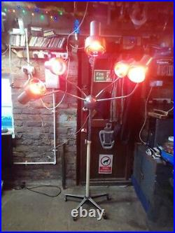 Vintage mid century Industrial loft Atomic steam punk sputnik octopus lamp