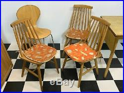 Vintage mid century retro Dinette compact kitchen dining table with atom chairs
