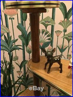 Vintage plant stand Mid Century Atomic Deco Modernist German