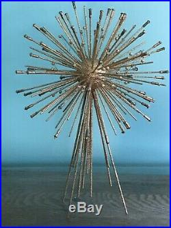 Vtg Mid Century Modern Christmas Tree Topper Star Atomic Sputnik Era Starburst