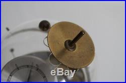 Vtg Mid Century Modern German Brass Sputnik Atomic Weather Station Thermometer