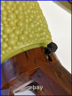 Vtg Pair 60s Mid Century Bubble Plastic Tripod Table Lamps MCM Atomic Beehive