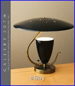 WOW MID CENTURY MODERN SAUCER REFLECTOR LAMP! ATOMIC UFO GOOGIE VTG RETRO 1950s